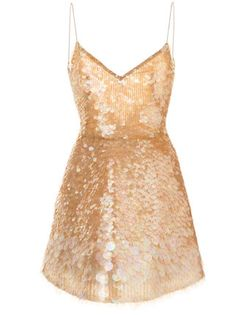 A fashion look from July 2017 featuring Monique Lhuillier dresses, Yves Saint Laurent sandals and Miu Miu shoulder bags. Browse and shop related looks. Beige Cocktail Dresses, Sequin Cocktail Dress, Sequin Mini Dress, Silk Mini Dress, Embellished Dress, Cocktail Gowns, Cl Fashion, Look Fashion, Fashion Outfits