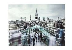 Furniture Village Millenium Bridge Glass Picture Stunning, large-scale photographic wall art Depicts the Millennium Bridge Highlights London landmarks, including St Paulrsquo