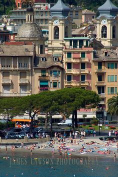 Santa Margherita Ligure Beach Just across from our Hotel...Loved it last August!!