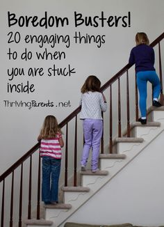 Are you in need of boredom busters?  Here are 20 engaging things to do when you are stuck in the house.