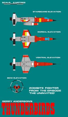 Gerry Andersons Thunderbirds Zombite Fighter by ArthurTwosheds.deviantart.com on @DeviantArt