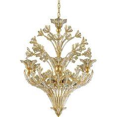 Schonbek Rivendell 12-Light Geometric Pendant Finish: Heirloom Gold, Crystal Color: Swarovski Spectra