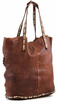 edebe4e5a8ddf Campomaggi Damen Shopper Handtasche C1340 Cognac 36x38x12 cm (BxHxT)   Amazon.de  Schuhe   Handtaschen