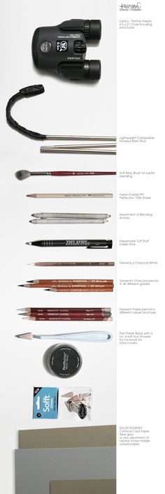The tools of master artist David kassan