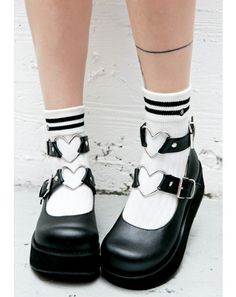 Demonia Evil Crybaby Mary Janes cuz yer tears can get ya anything you want, babe. Make 'em pay and spoil ya in these platform mary janes,… Kawaii Shoes, Kawaii Clothes, Kawaii Goth, Dr Shoes, Me Too Shoes, Mary Janes, Bobbies Shoes, Mode Emo, Mode Lolita