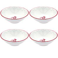 Gourmet Mickey Mouse Bowl Set - White/Red