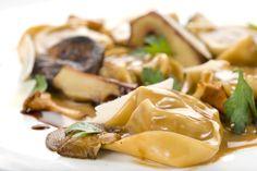 Home made Agnolotti, wild mushrooms sauce,   Ross Gurreri, executive Chef, Bice Montreal