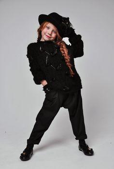Kids Fashion. All Black. Black Outfit.