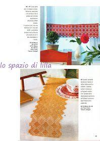 lo spazio di lilla: A gentile richiesta...: le strisce a filet per il mobile classico Lace Tape, Crochet Art, Gentile, Curtains, Shower, Hobby, Prints, Home Decor, Blog