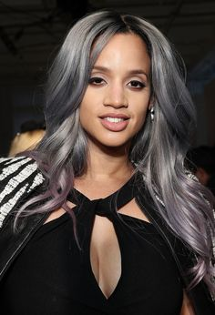 Gray hair color.