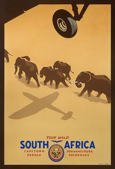 Vintage travel poster - South Africa by Stuart McLachlan