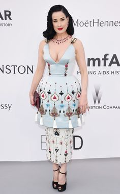 Dita Von Teese: 2015 amfAR Gala: Star Arrivals at the Cannes Benefit