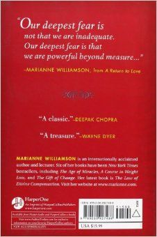 """A Return to Love: Reflections on the Principles of """"A Course in Miracles"""": Marianne Williamson: 9780060927486: Amazon.com: Books"""