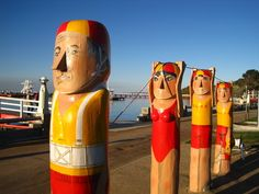 Geelong's famous bollard sculpture trail makes for a fantastic walk and day out from Melbourne.