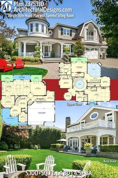 Garden design layout floor plans square feet 59 Ideas for 2019 Gartengestaltung Dream House Plans, House Floor Plans, My Dream Home, Dream Houses, Mansion Floor Plans, Large House Plans, Unique House Plans, The Plan, How To Plan