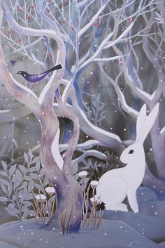 Illustration from The Snow Rabbit by Camille Garoche