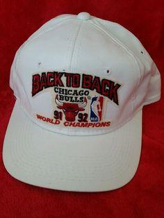 VIntage NBA Chicago Bulls Snap Back 1991-1992 Back to Back World Champions #SportsSpecialties #BallCap