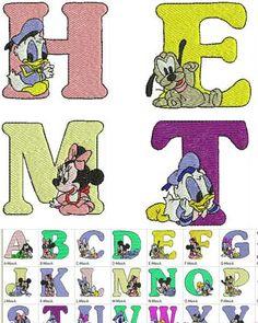 Disney Baby Alphabet Free Embroidery
