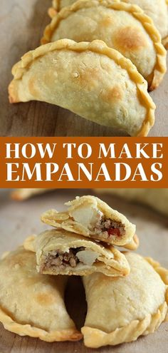 How to Make Empanadas with an easy homemade dough and customizable filling. These crowd-pleasers can be made ahead of time and are baked instead of fried! This recipe includes a beef filling, but I also share how to make sweet empanadas! Mexican Dishes, Mexican Food Recipes, Beef Recipes, Baking Recipes, Mexican Meals, Hamburger Recipes, Spicy Recipes, Beef Empanadas, Empanadas Recipe