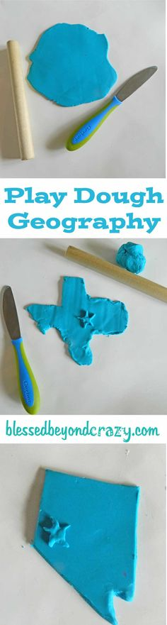 play dough geography