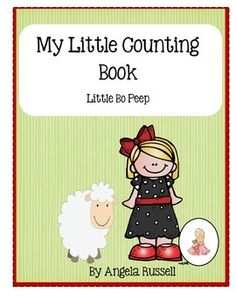 Help Little Bo Peep count her sheep with this cute 9 page booklet. It is a great addition to a Math Center or to use during your Nursery Rhyme Unit. Copy and cut the pages apart. Stack and staple together to create a counting book. Have the children fill in the sentence and color the pictures.