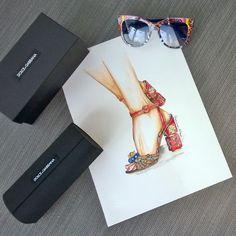 #Buongiorno con una nuova #illustrazione. Desiderio del giorno...deliziosi sandali di Dolce & Gabbana. #fashionillustration #fashion ##illustration #shoes #heels #scarpe #dolceegabbana #dgitaly #italy #fashionsketch #sketch #fashiondraw #draw #watercolor #instaart #instafashion #fashionblog #fashionblogger #sicily #dgcarretto #giovannasitran www.theglampepper.com