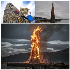 People Stack Thousands Of Pallets And Create The Worlds Largest - Norway creates biggest bonfire world
