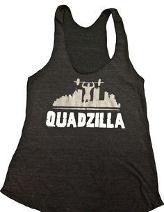 QUADZILLA Tri-blend Women's Tank - WOD Outlet - Apparel and Gear