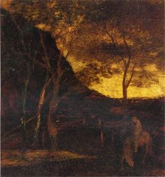 At the Ford - Albert Pinkham Ryder. Tonalismo