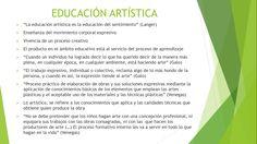 Características de la educación artística