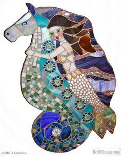 Mermaid & Seahorse kimallusta