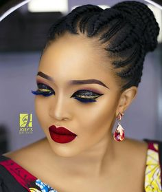 """14.7k Likes, 126 Comments - Africa's Top Wedding Website (@bellanaijaweddings) on Instagram: """"Dramatic eyelids x Red lips  For that extra extra wedding guest!  Makeup: @joeysgalleria…"""""""