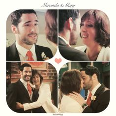 Miranda Hart as Miranda and Tom Ellis as Gary  on Miranda