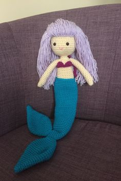 Excited to share the latest addition to my #etsy shop: Crochet mermaid doll