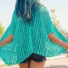 1spring time kimono cardigan free crochet pattern