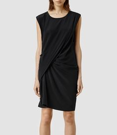 Womens Ayla Se Dress (Black) | ALLSAINTS.com