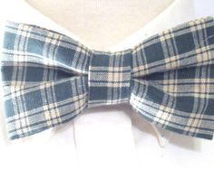 Green Plaid Boy's Bowties/ Men:s plaid Bowties/ Christmas Plaid Bowtie/ Christmas Photo Shoot