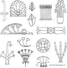 Book with many templates designs . Discussion on LiveInternet - Russian Service Online diary Motifs Art Nouveau, Design Art Nouveau, Art Nouveau Pattern, Egyptian Drawings, Ancient Egyptian Art, Ancient Aliens, Ancient Greece, Ancient History, Egypt Art
