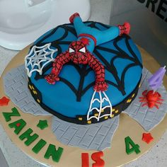 41 Best Spiderman Frozen Cake Images
