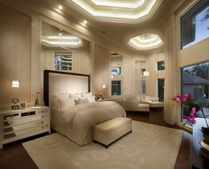 Contemporary opulence:  Master Suite grandeur coolness