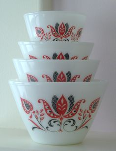 vintage fire king nesting bowls - Google Search