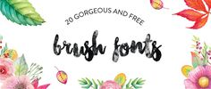 How many of you are still infatuated with the brush font trend? here's a batch of 20 free brush fonts to inspire. Calligraphy Fonts, Typography Fonts, Typography Design, Cursive Fonts, Graphic Design Fonts, Web Design, Vector Design, Design Ideas, Funky Fonts