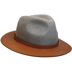 Fianna  leather brimmed trigly by The Season Hats a1b19e7e72b2