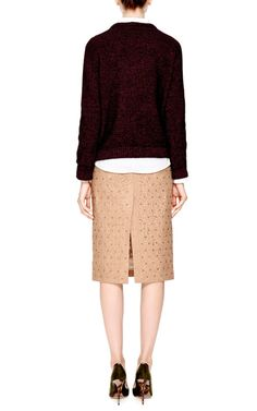 Genie Crystal-Embellished Lace Skirt in Camel by No. 21 - Moda Operandi