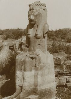 Sekhmet, Temple of Mut, Karnak - At least 287 of these statues were found. Many dispersed to museums and private collections around the world.