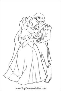 prince charming wedding coloring page