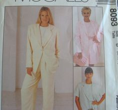 *****   New McCALLS Sewing Pattern ******    Misses SIZE 10,12,14    JACKET, TOP, PANTS, SHORTS    - Brand New Pattern - First Quality -     --
