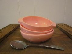 3 Pink Melmac Bowls Catalina  Harmony