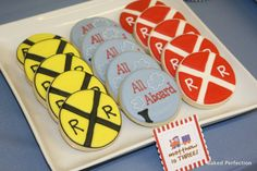 Train Theme Hand Decorated Sugar Cookies//Train by bakedperfection, $162.00...or Krista could make them!