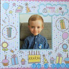 something creative: Happy Birthday Misko! Happy Birthday Baby, Scrapbook Pages, Are You Happy, Creative, Frame, Decor, Picture Frame, Decoration, Decorating